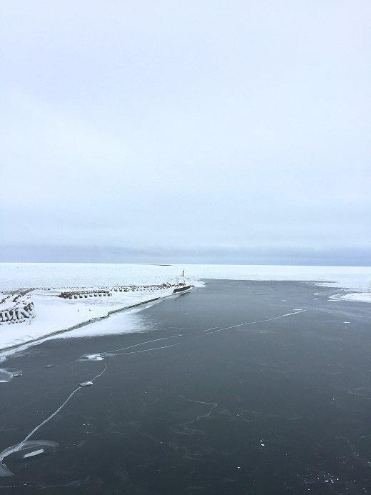 流氷接岸―北見市常呂町 2020年2月11日