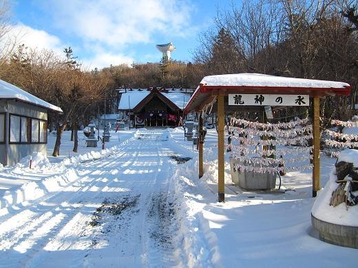 根雪の常呂神社 2018年12月16日