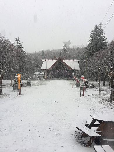 雪の常呂神社 2019年11月24日