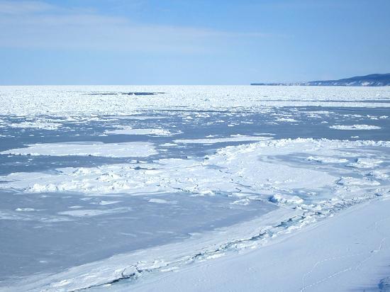 流氷 網走能取岬 北見市常呂町