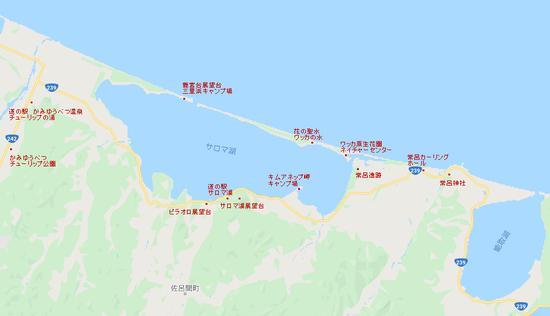 サロマ湖観光マップ