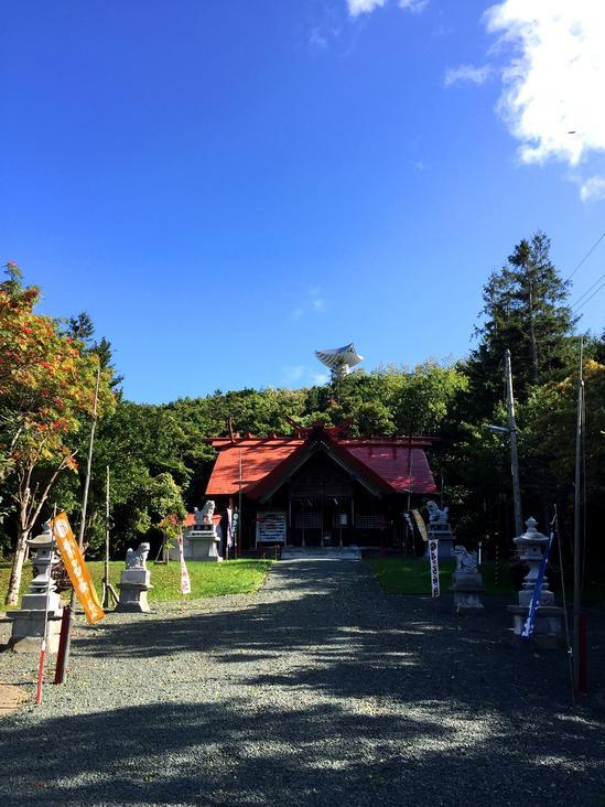 常呂神社 雪虫&ナナカマド
