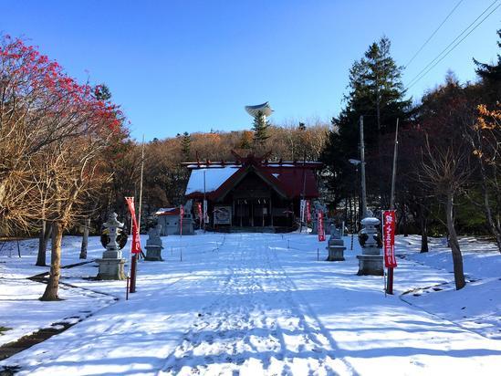 常呂神社 初雪&初冬