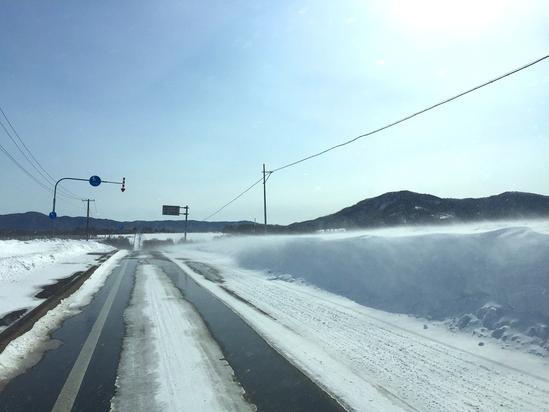地吹雪のシムソンズ坂?