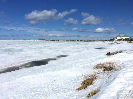 初春のサロマ湖